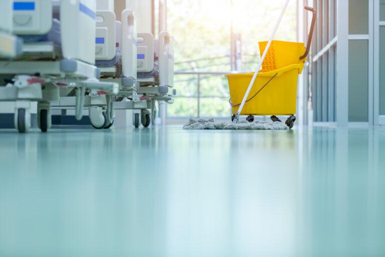 Epoxy flooring in a hospital